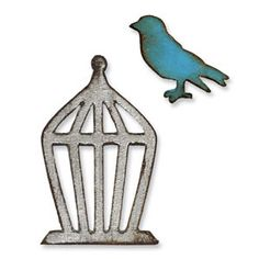 Sizzix Movers & Shapers Magnetic Die Set 2PK - Mini Bird & Cage Set $15.99