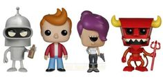 Hey sexy mama, wanna kill all humans? Funko POP! Animation Futurama Bundle is here! - featuring Bender, Fry, Leela, and Robot Devil Vinyl Figures! Each figure measures approximately 3 3/4-inches tall. Check out the other Futurama figures from Funko! #funko #popvinyl #futuramabundle #toy #actionfigures #collectibles