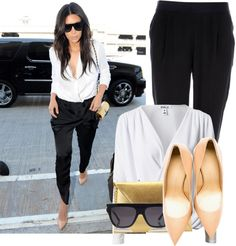 """Kim Kardashian The Look For less"" by fashion-guru678 on Polyvore"