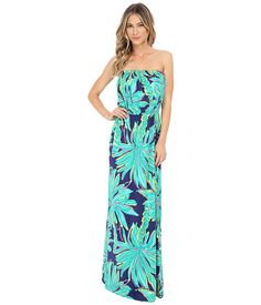 I'm crushing on Lilly Pulitzer prints currently. Love the Sea green color. Lily Pulitzer Marlisa Maxi Dress