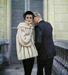Model in Diadem EMBA mink jacket by Christian Dior, photo by Virginia Thoren, 1958
