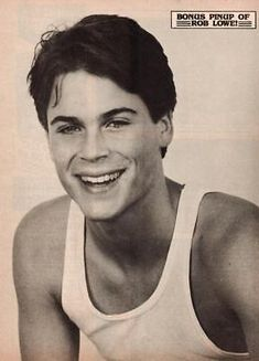 Rob Lowe Young, Rob Lowe 80s, Leonardo Dicaprio, Brad Pitt, Beautiful Boys, Pretty Boys, Robert Lowe, Teen Celebrities, Bae