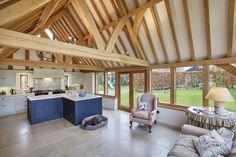 Stunning oak framed kitchen extension