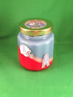 Oilers candle by RIAsCandles on Etsy