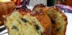 Lemon blueberry bread - This blueberry lemon bread is moist easy to make and delicious with just the perfect amount of blueberries and lemon zest. Low Calorie Baking, Olla Gm G, Greek Cake, Cake Recipes, Dessert Recipes, Greek Sweets, Lemon Bread, Blueberry Bread, Greek Dishes