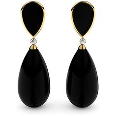 Women's Earrings by Marcello Riccio Black Agate and Diamond Earrings (634.005 COP) ❤ liked on Polyvore featuring jewelry, earrings, diamond earrings, diamond jewellery, earring jewelry, black agate jewelry and yellow jewelry