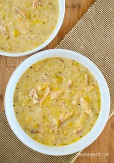 Slimming Eats Chicken and Leek Soup - gluten free, dairy free, paleo, Whole30, Slimming World and Weight Watchers friendly