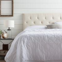 Brookside Emmie Cream Twin Upholstered Headboard at Lowe's. Create a chic modern look for your bedroom with our Brookside Emmie headboard. With seven different adjustable height options between 34 and 46 in. Cream Headboard, Cal King Headboard, Linen Headboard, King Size Upholstered Headboard, Tufted Headboards, Headboard Decor, Furniture Deals, Rustic Furniture, Bedroom Furniture