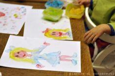 fare colori a dita in 5 minuti