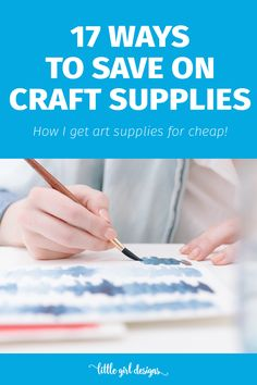 This crafter saves BIG time on her art and craft supplies. I had never heard of several of these ideas—so cool!