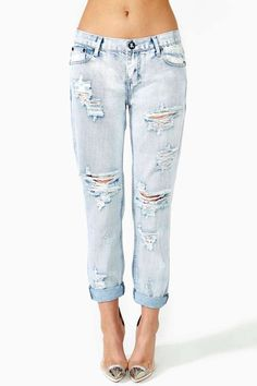 I still think shredded jeans look cheap, tacky, adolescent.