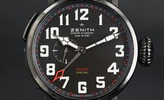 "Pre-Baselworld 2013: Zenith PILOT Montre d'Aeronef Type 20 GMT ""Red Baron""  http://www.watchonista.com/2914/watchonista-blog/watchographer/pre-baselworld-2013-zenith-pilot-montre-daeronef-type-20-gmt"