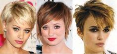 varios coreste curtos de cabelo pixie da moda