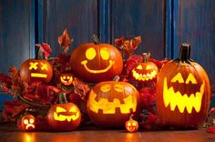 These jack-o-lanterns look excited for Halloween.  |  Homedit