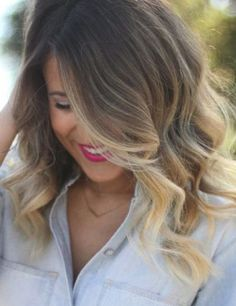 Ombre Hair - Long Thick Hair with Ombre Color. Hairstyles for women with thick long hair.