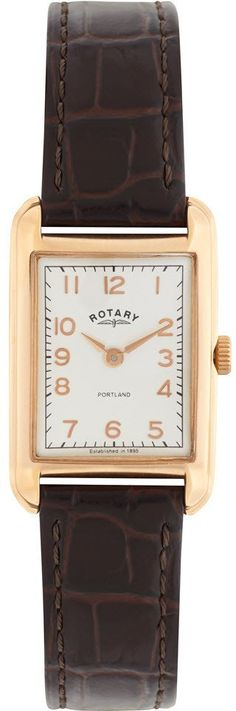 Rotary Watch Portland Ladies Watch available to buy online from with free UK delivery. Rotary Watches, Square Watch, Portland, Rose Gold, Stuff To Buy, Accessories, Brown Leather, Luxury Fashion, Bling