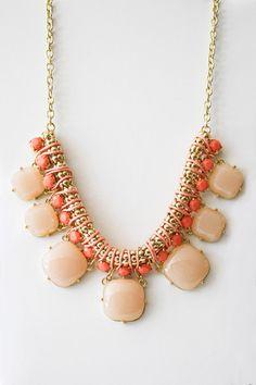 Piper Necklace in Peach.