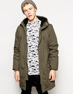 Green Military Mens Parka Jacket - ASOS