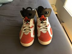 "2da376c1aaf165 Air Jordan 6 - Gatorade ""Like Mike"" Orange   White (Size US Men)."