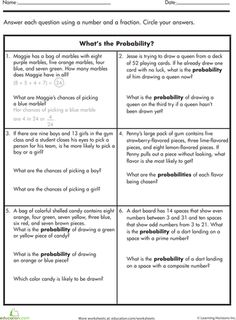 Worksheets: What's the Probability?