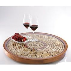 Shop for wine corks lazy susan at Bed Bath & Beyond. Buy top selling products like Wine Enthusiast Wine Cork Lazy Susan Kit and undefined. Shop now! Wine Craft, Wine Cork Crafts, Bottle Crafts, Champagne Cork Crafts, Wine Cork Holder, Wine Cork Art, Wine Cork Boards, Wine Cork Trivet, Wine Cork Table
