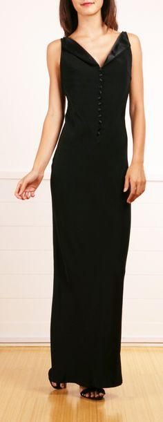 Pierre Cardin for Paul & Joe black silk evening gown