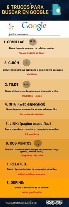 TIC en IE.5136 Fernando Belaúnde Terry - Callao: 8 trucos para buscar en Google y ganar tiempo: