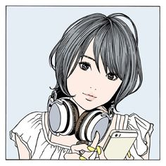 Kai Fine Art is an art website, shows painting and illustration works all over the world. Manga Anime, Manga Girl, Anime Art, Art And Illustration, Illustrations, Comic Kunst, Comic Art, Manga Artist, Japanese Art