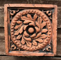 """Victorian decorative brick """"Brecon"""" design copy of a Century decorative terracotta wall tile hand cast from originals at our Hand Cast, Architecture Details, Wall Tiles, Terracotta, Medieval, Home And Garden, Wall Decor, Victorian, Decorative Bricks"""