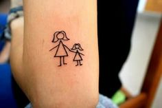 Tattoo mother & daughter