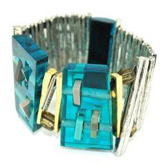 Edeni Squares Bracelet - Anne-Marie Chagnon Plastic Jewelry, Resin Jewelry, Jewellery, Arm Party, Jewel Box, Bangles, Bracelets, Squares, Marie