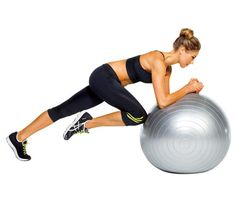 stability ball exercises to get flat abs