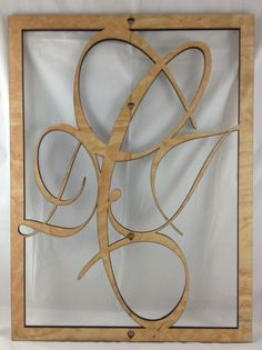 x Custom Made Monogram Wall Decor made from Laser Cut Baltic Birch… Laser Cut Wood, Laser Cutting, Laser Etcher, Laser Engraved Gifts, Laser Machine, Laser Engraving, Engraving Ideas, Monogram Wall, Cnc Projects