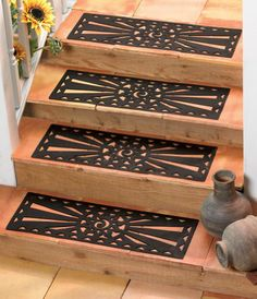 Best For The Headboard Extra Wide Rubber Scroll Stair Tread 400 x 300