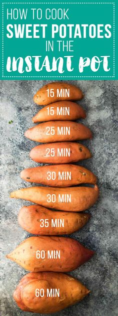 Instant Pot sweet potatoes- how to cook them to get perfect, creamy sweet potatoes in a fraction of the time it takes to roast them in the oven or boil them in water. Plus lots of ideas of how to use your pressure cooker sweet potatoes for meal prep! Power Pressure Cooker, Instant Pot Pressure Cooker, Pressure Cooker Recipes, Pressure Cooking, Pressure Pot, Pressure Cooker Sweet Potatoes, Cooking Sweet Potatoes, Sweet Potato Meals, How To Cook Sweet Potato