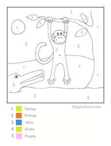 math worksheet : monkeys on pinterest  zoo preschool zoo crafts and color by numbers : Wild Animals Worksheets For Kindergarten