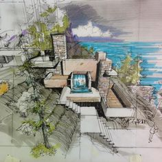 Who is your #Favourite Architecture Sketcher? --- #Sketch by Reza Asgaripour ...
