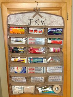 Great way to store small medicine cabinet tubes etc.