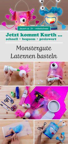 Your children want a monster cool lantern on the St., aus pet flaschen frosch Your children want a monster cool lantern on the St. Diy And Crafts, Crafts For Kids, Arts And Crafts, Upcycled Crafts, Tetra Pack, Diy Paper, Paper Crafts, Lantern Craft, Kids Lantern