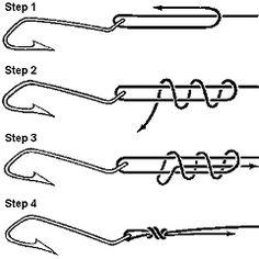 Fishing hook knots: Scaffold Knot