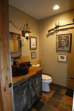 Hello Matthew's dream man-bathroom. Maybe this can go in his man cave haha