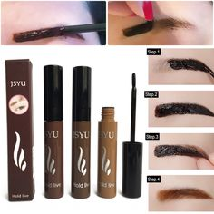 Merek Makeup 1 pcs Kulit Off Alami Gel Alis Enhancer Krayon Sourcils Alis Tahan Air Alis Tint Saya Gel Maquillaje
