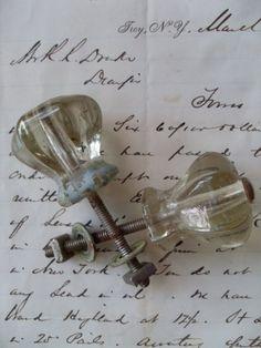 my favorite---vintage glass knobs