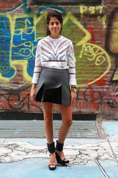 Leandra Medine mini skirt style