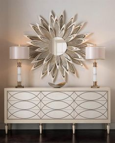 Limited Production Design & Stock: Grand Scale Cream & Khaki Sideboard * Elegant Nail Head Detailing * Inc: Cupboards With Shelving 9 Drawers * 35 x 84 x 18 inches * Only Few Remaining