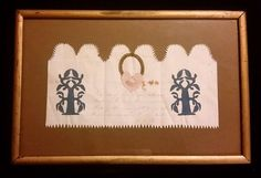 This exquisite Victorian folk art paper cutting or Scherenschnitte was found, as the original owner notes, tucked away in an antique bible.