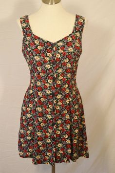 Sale  90s GRUNGE era FLORAL mini corset back sundress- size medium