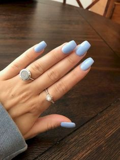 Nail - Lovely Chic Nail Design For The Real Women This Winter 71 - - Lovely Chic Nail Design For The Real Women This Winter 71 nails nail ideas trendy nails blue nails. Chic Nail Art, Chic Nails, Chic Nail Designs, Art Designs, Design Ideas, Check Designs, Blue Acrylic Nails, Pastel Blue Nails, Blue Gel Nails