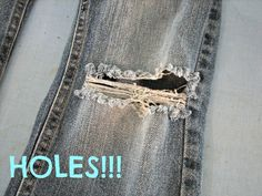 How To Fix A Hole In Jeans {A Girl and a Glue Gun}
