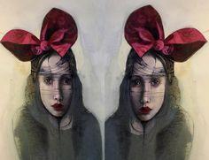 Katarína Vavrová - artist painting portrait